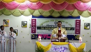 Opening Ceremony of the Golden Jubilee of Mary Mount School, Aizawl
