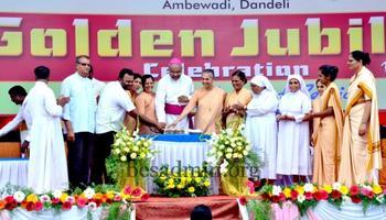 Golden Jubilee belles resounds at St. Michael's convent High School Ambewadi, Dandeli