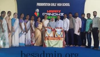 Gandhi Jayanti celebration at Presentation High School, Dharwad